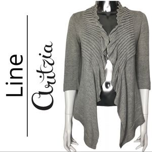 Line Exclusively for Aritzia Grey Pleated Sweater